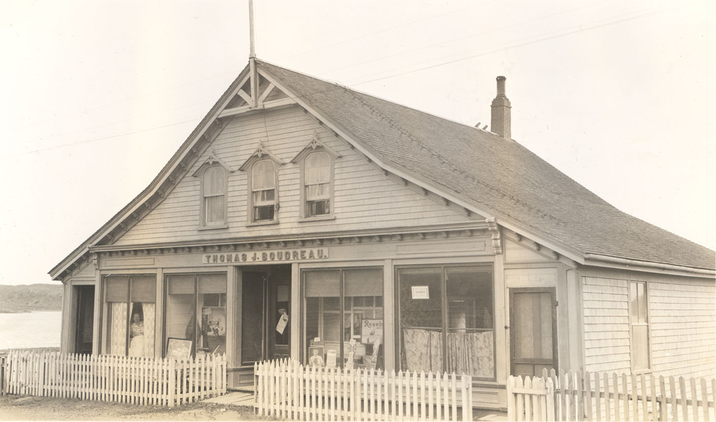 Oldest store in Arichat, C.B., Thomas J. Boudreau