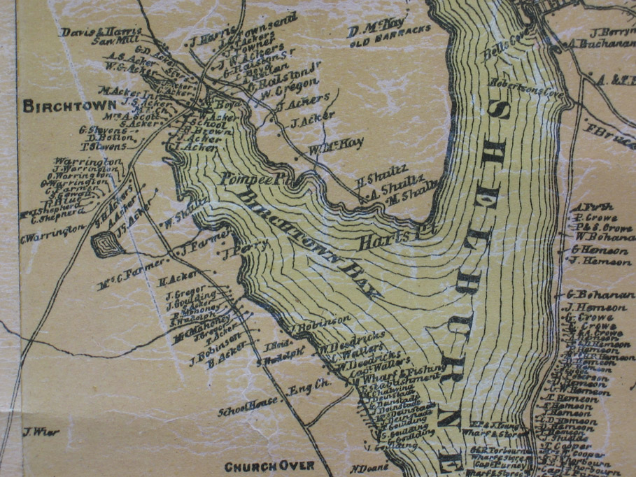 Africanns : Map detail showing Birchtown