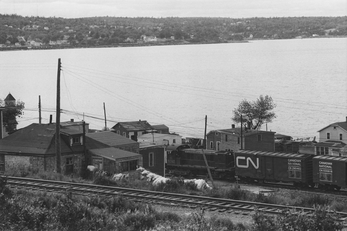 Canadian National freight train passing through Africville