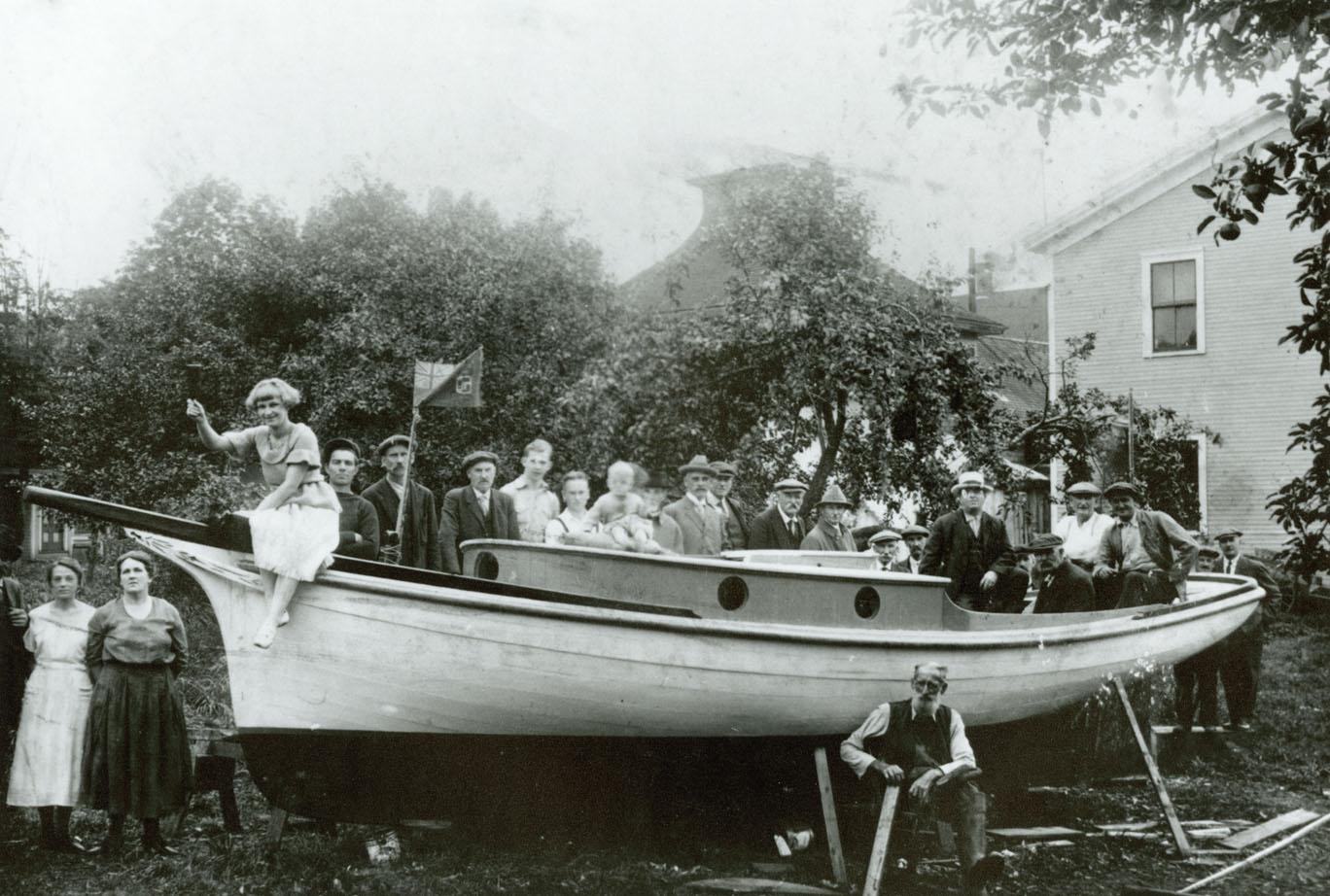 Christening of <i> Eva </i> (boat) built by R. Mitchner – Hantsport, Nova Scotia
