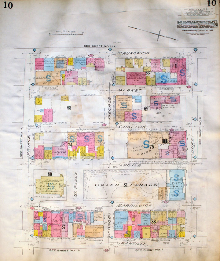 Builtheritage : Plate 10, Insurance Plan of the City of Halifax Nova Scotia</i>