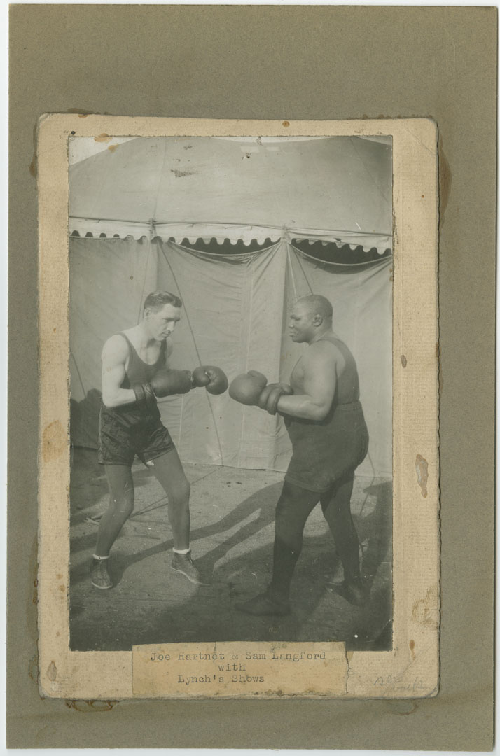Joe Hartnet and Sam Langford with Lynch's Shows