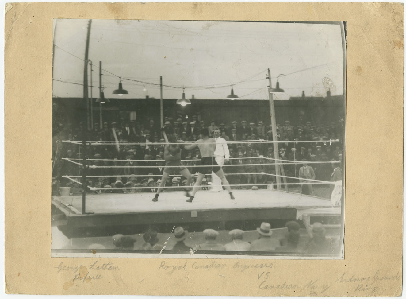 Royal Canadian Engineers VS Canadian Navy at the Ardmore Grounds Ring