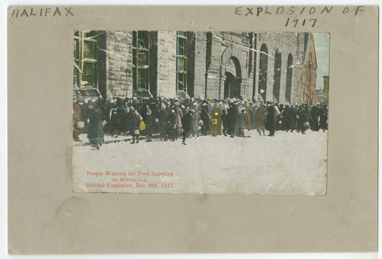 Connors : People Waiting for Food Supplies at Armouries, Halifax Explosion
