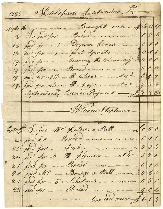 Cooking : Expenses for Mrs. Wentworths house page 5