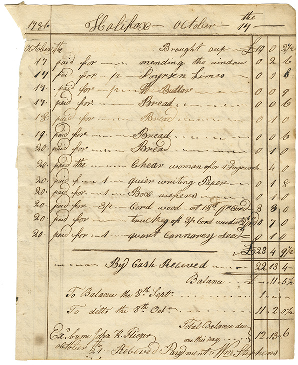 Cooking : Expenses for Mrs. Wentworths house page 12