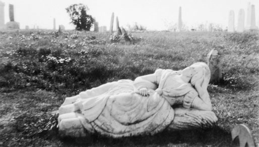 Effigy in Town Point Cemetery, Chebogue, Yarmouth County