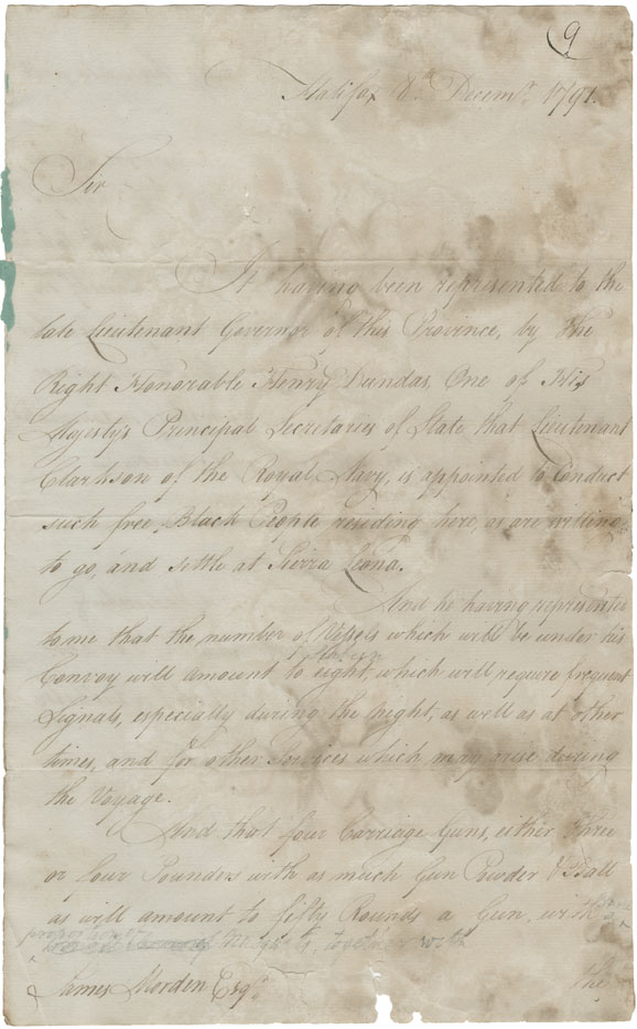 Copy of the foregoing letter (see RG 1 vol. 419 no. 8)