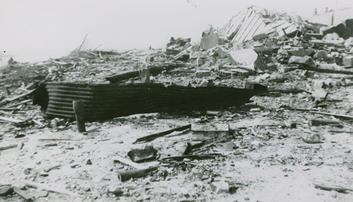 Damage caused by the Bedford Magazine Explosion