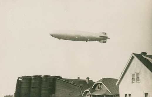 German Airship <i>Hindenburg</i> flying over Halifax