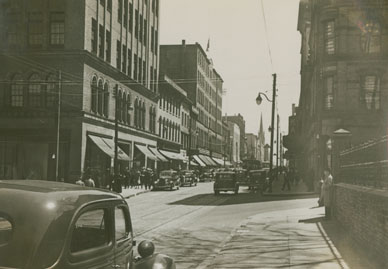 A View of Barrington Street near intersection of Prince Street
