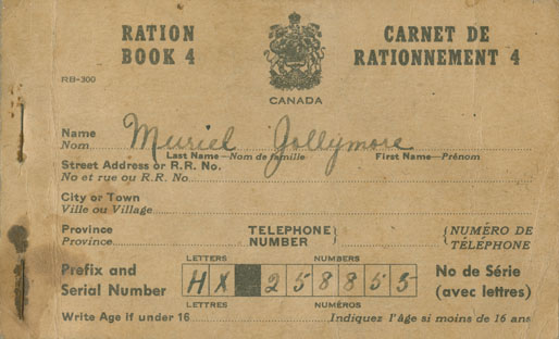 Ration Book 4 belonging to Muriel Jollymore