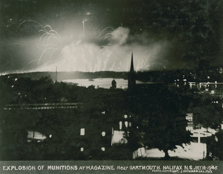 Explosion of Munitions at Magazine near Dartmouth