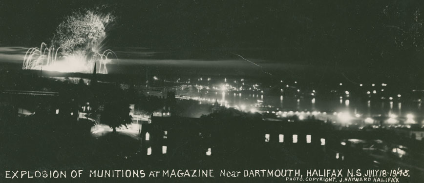 EastCoastPort : Explosion of Munitions at Magazine near Dartmouth