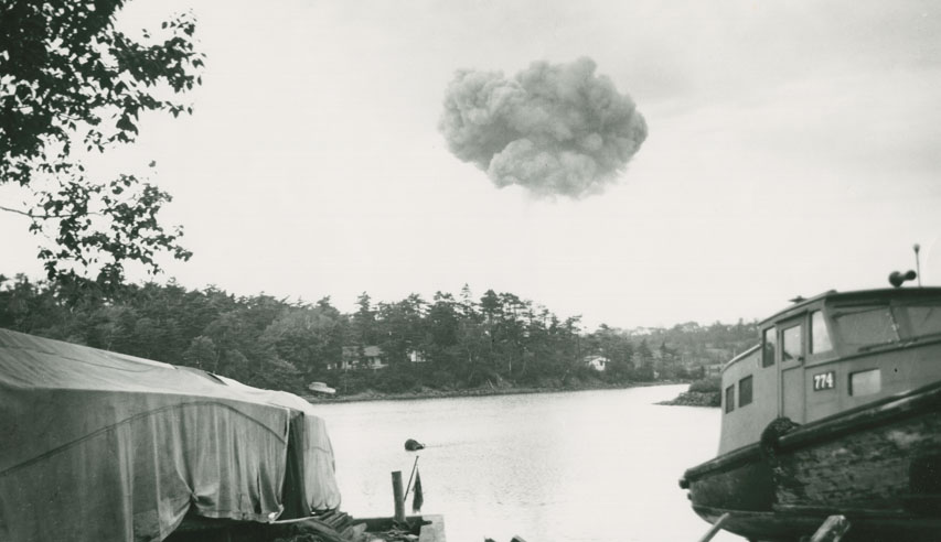 Smoke from Bedford Magazine Explosion as seen from Melville Cove