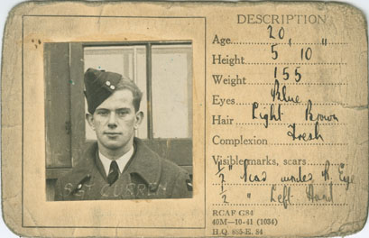 Don Curren Military Identification Card