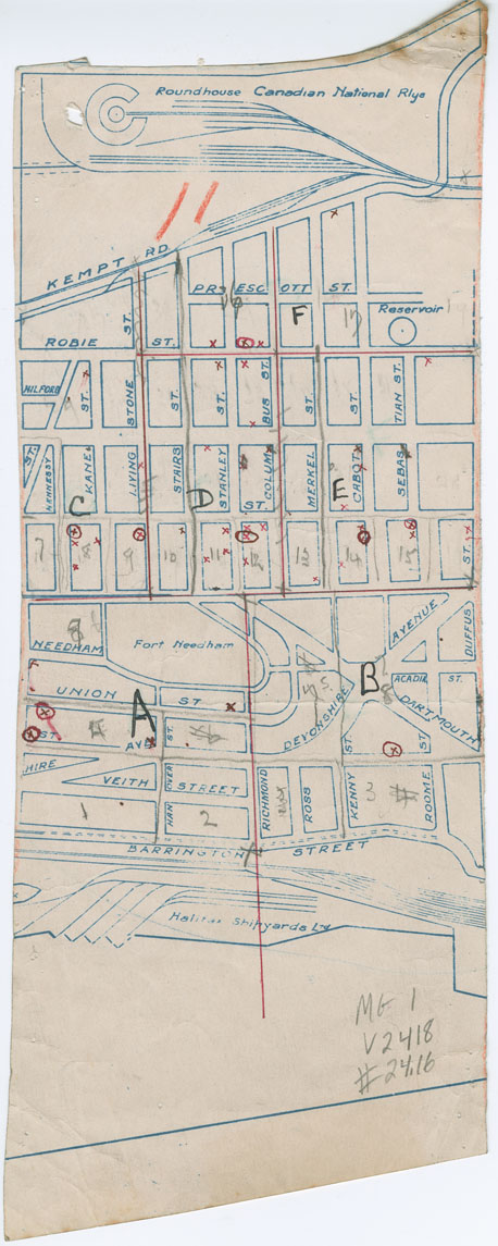 Air Raid Precautions Sector maps,  part of the Richmond district of Halifax