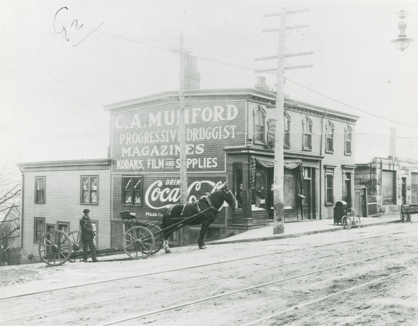 Southeast corner of Campbell Road (later Barrington Street) and East Young Street, Halifax, prior to 1917 explosion