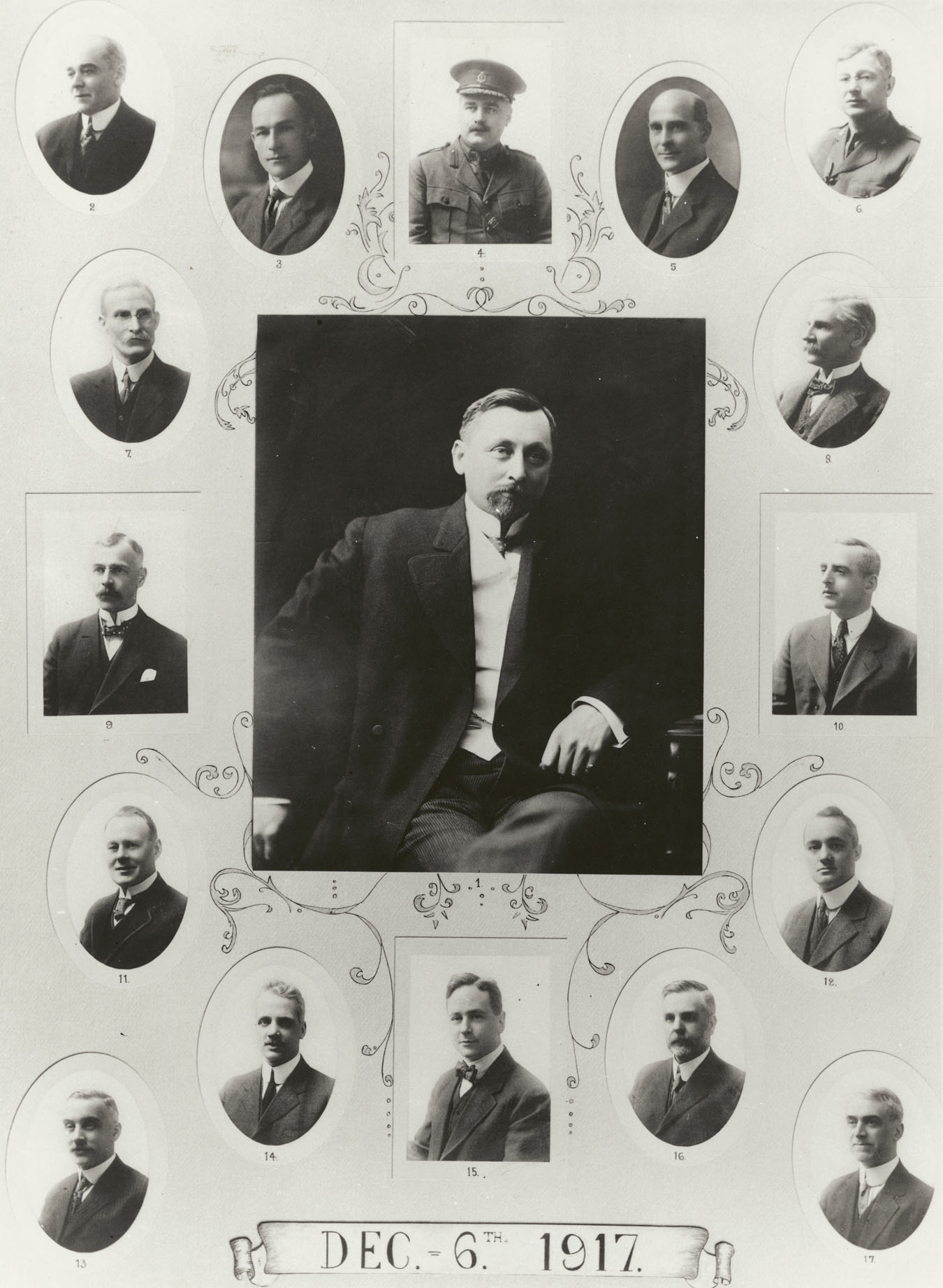 Explosion : Composite photograph of members of the Halifax Relief Committee