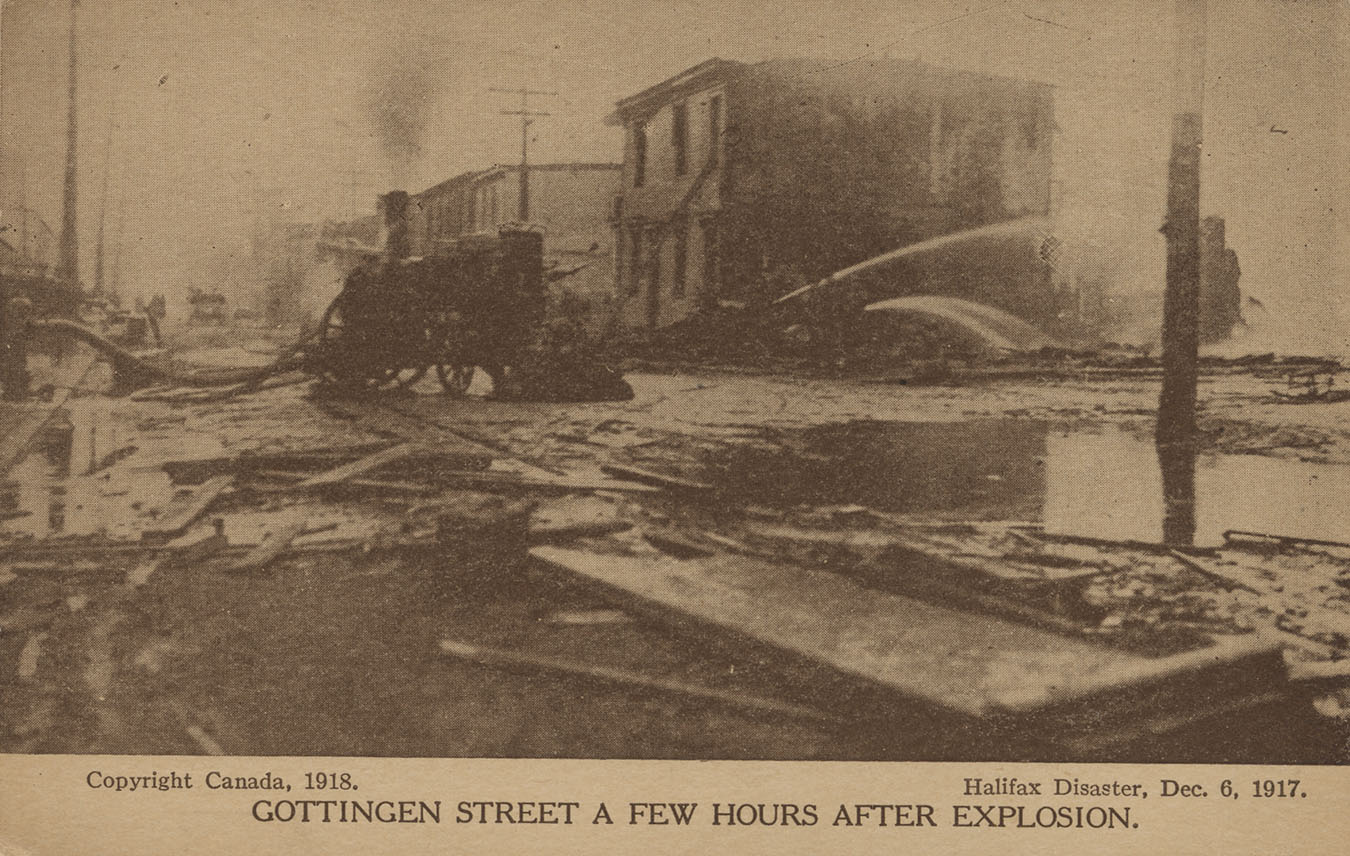 Explosion : Gottingen Street a Few Hours after Explosion