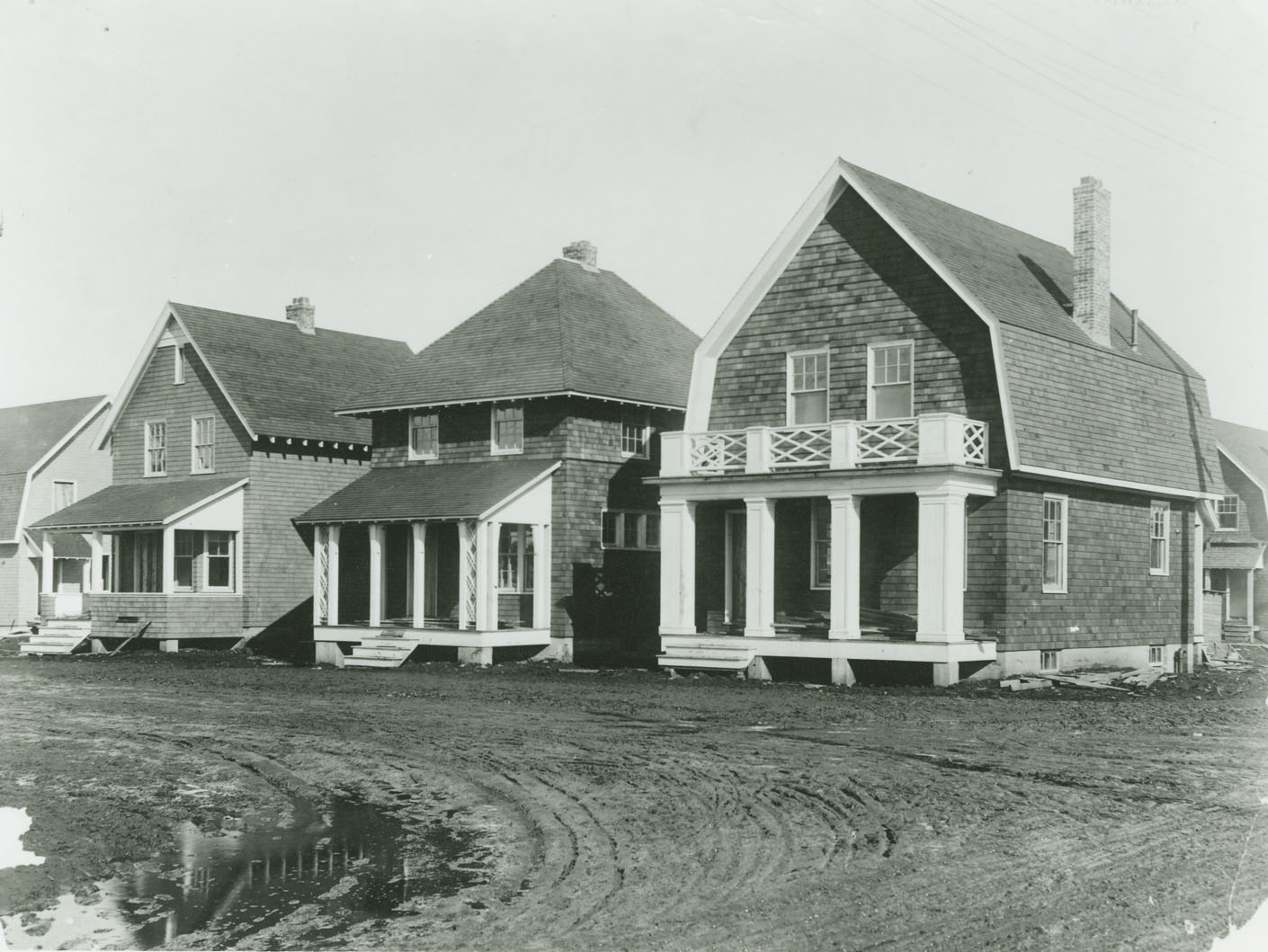 Thaddeus and Mary McTiernan's house, 783 (now 3107) Robie Street at corner of West Young, and adjacent Halifax Relief Commission houses nearing completion