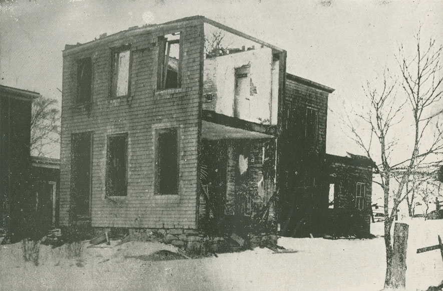 Showing the devastation and havoc wrought in north end of Dartmouth