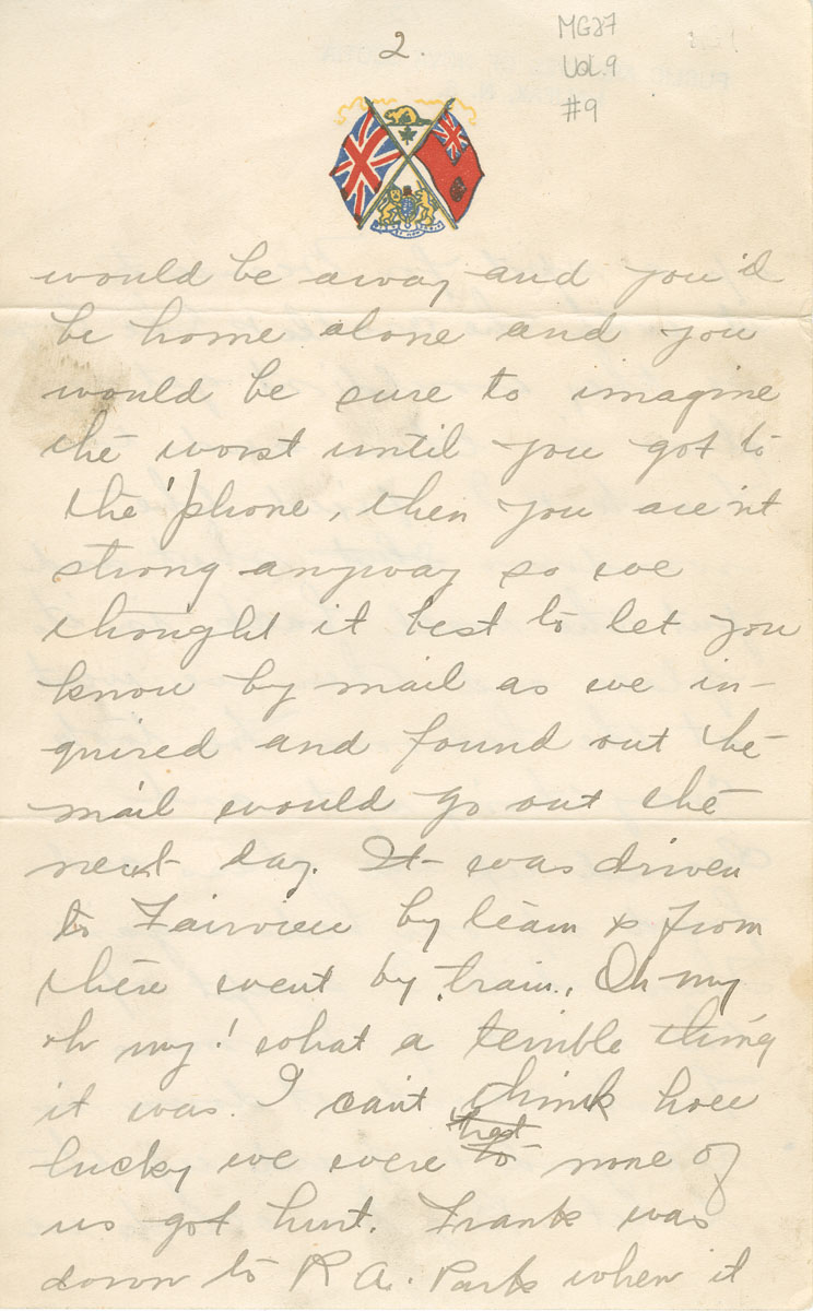 Hattie Young, Halifax, to Mrs. Young, 10 December 1917