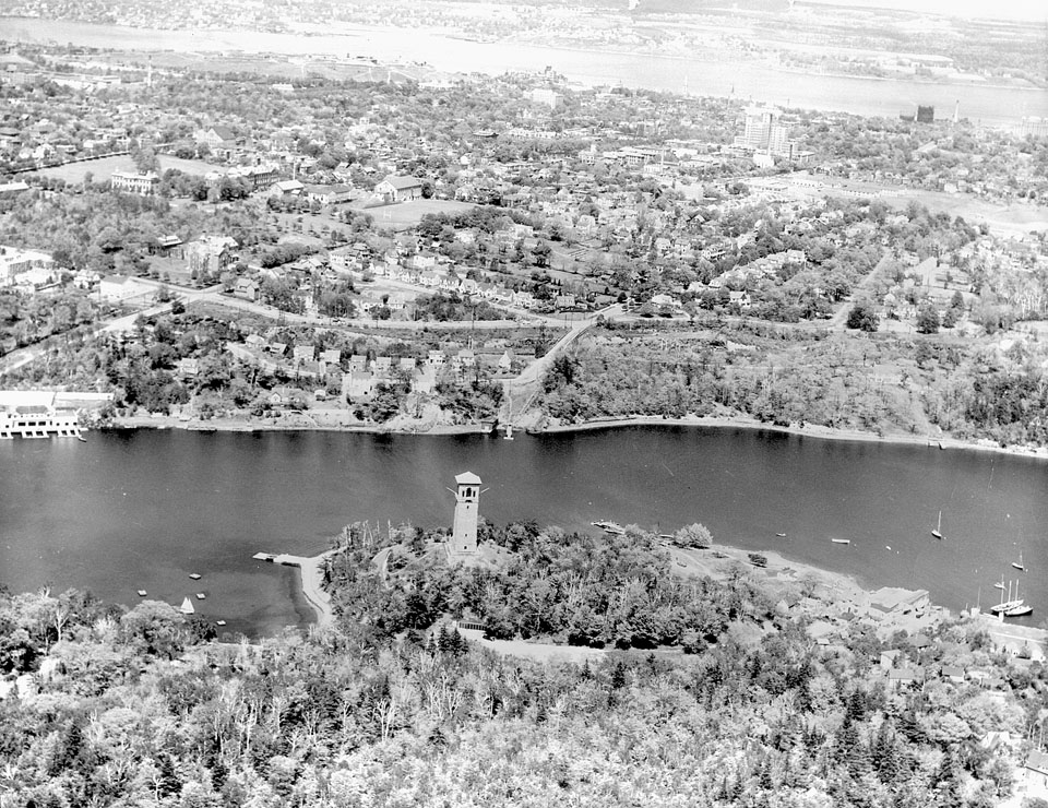 Aerial view of the North West Arm, Looking East to Halifax Harbour and the Dartmouth Shore, 1949