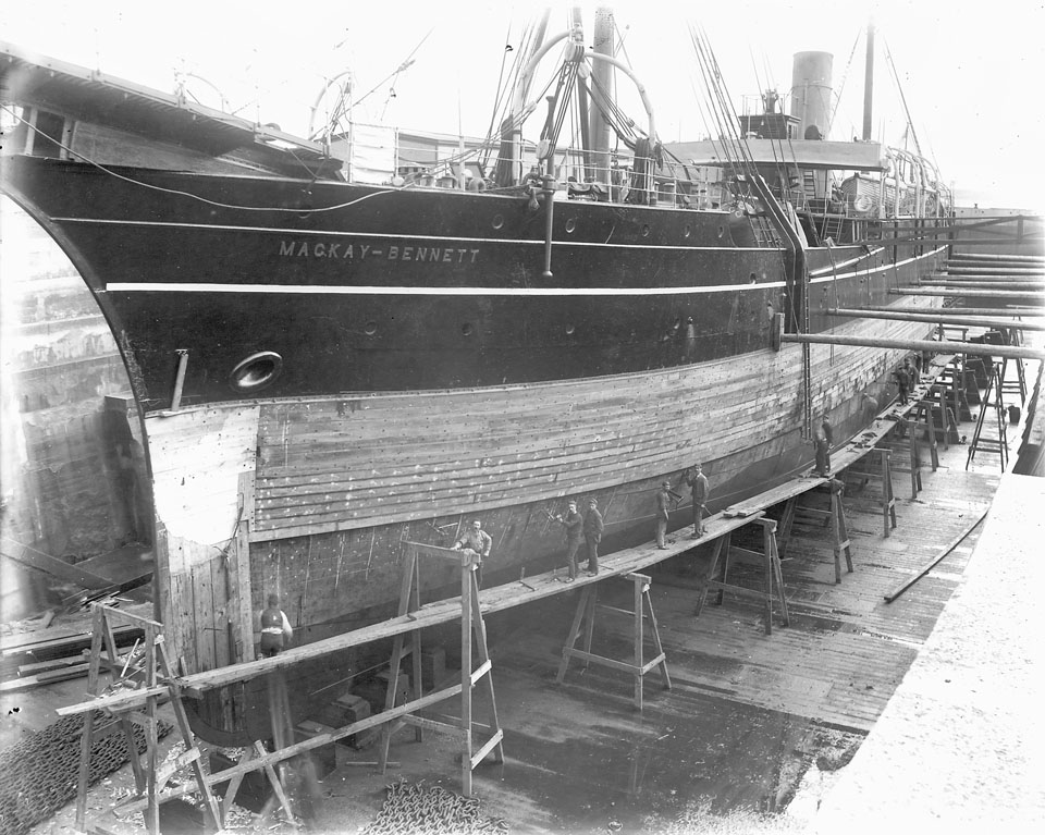 <i>CS MacKay-Bennett</i> in Dry Dock, Halifax, between 1885 and 1922