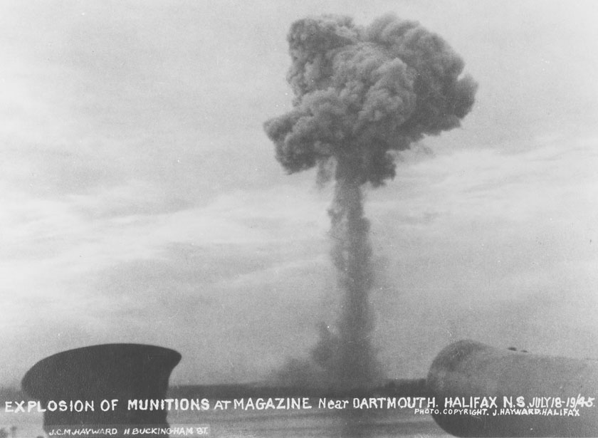 Halifax : Explosion of Munitions at Magazine near Dartmouth, Halifax, N.S., July 18, 1945
