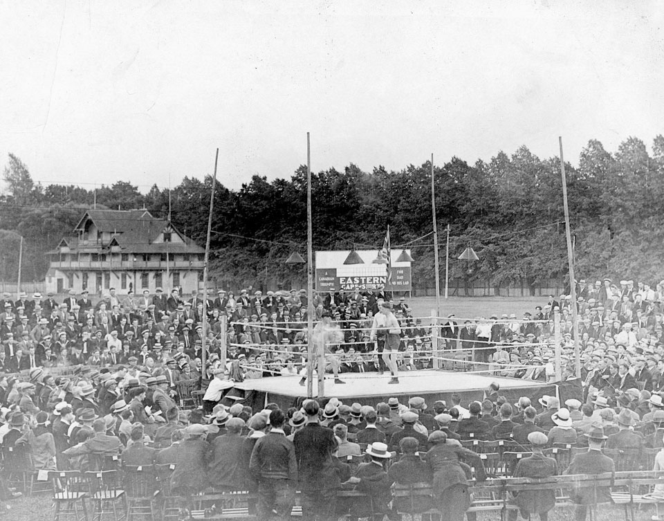 Boxing Match on the Wanderers' Grounds, Halifax, 192-?