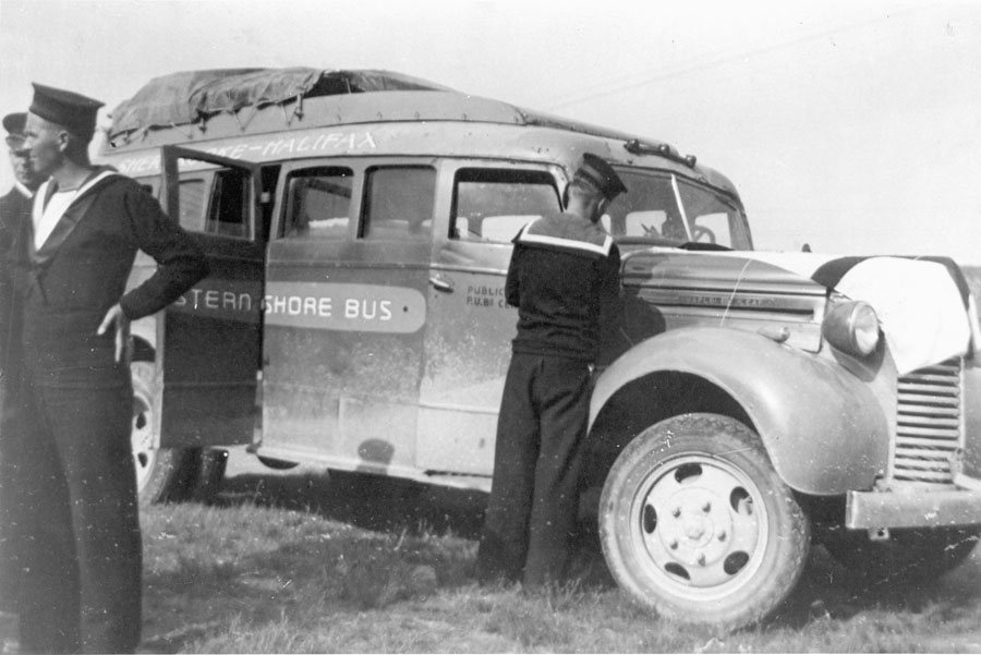 First Bus Operated by the Eastern Shore Bus Co-op, ca. 1939