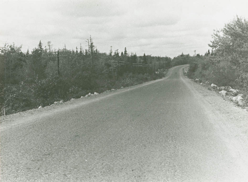 St. Margarets Bay Road Route No. 3, 1 mile west of 9 Mile River bridge, looking west
