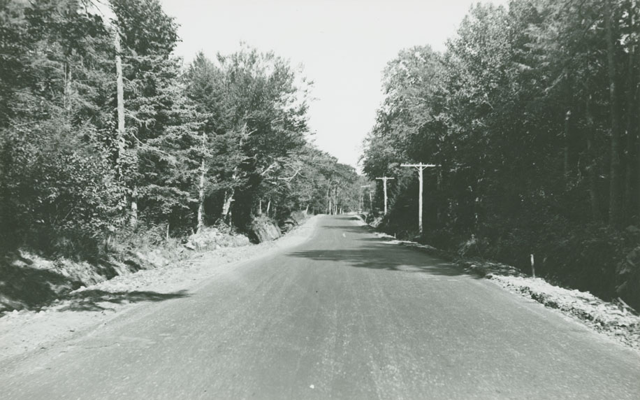 Dartmouth - Preston Road Route No. 7, hill east of Walker's looking west
