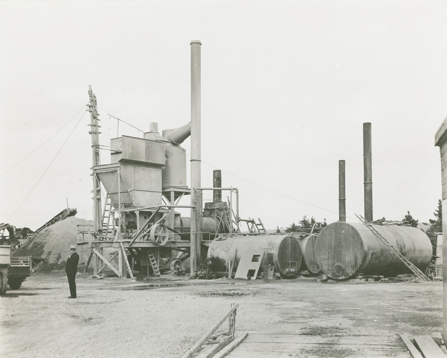 Monastery - Mulgrave Route No. 4, paving plant at Havre Bouche