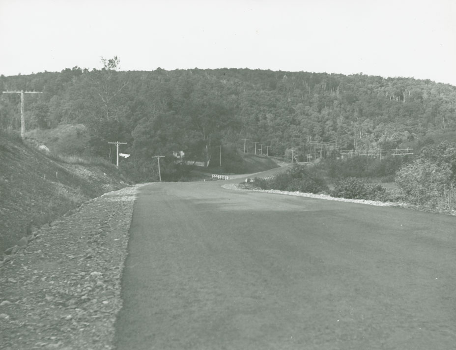 Broadway - James River Route No. 4, near Barney River looking West
