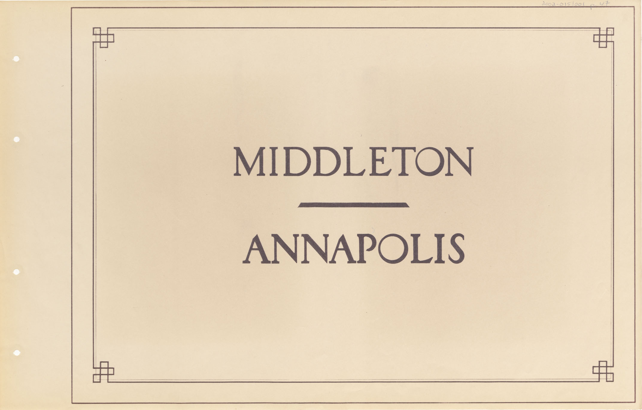 Middleton - Annapolis