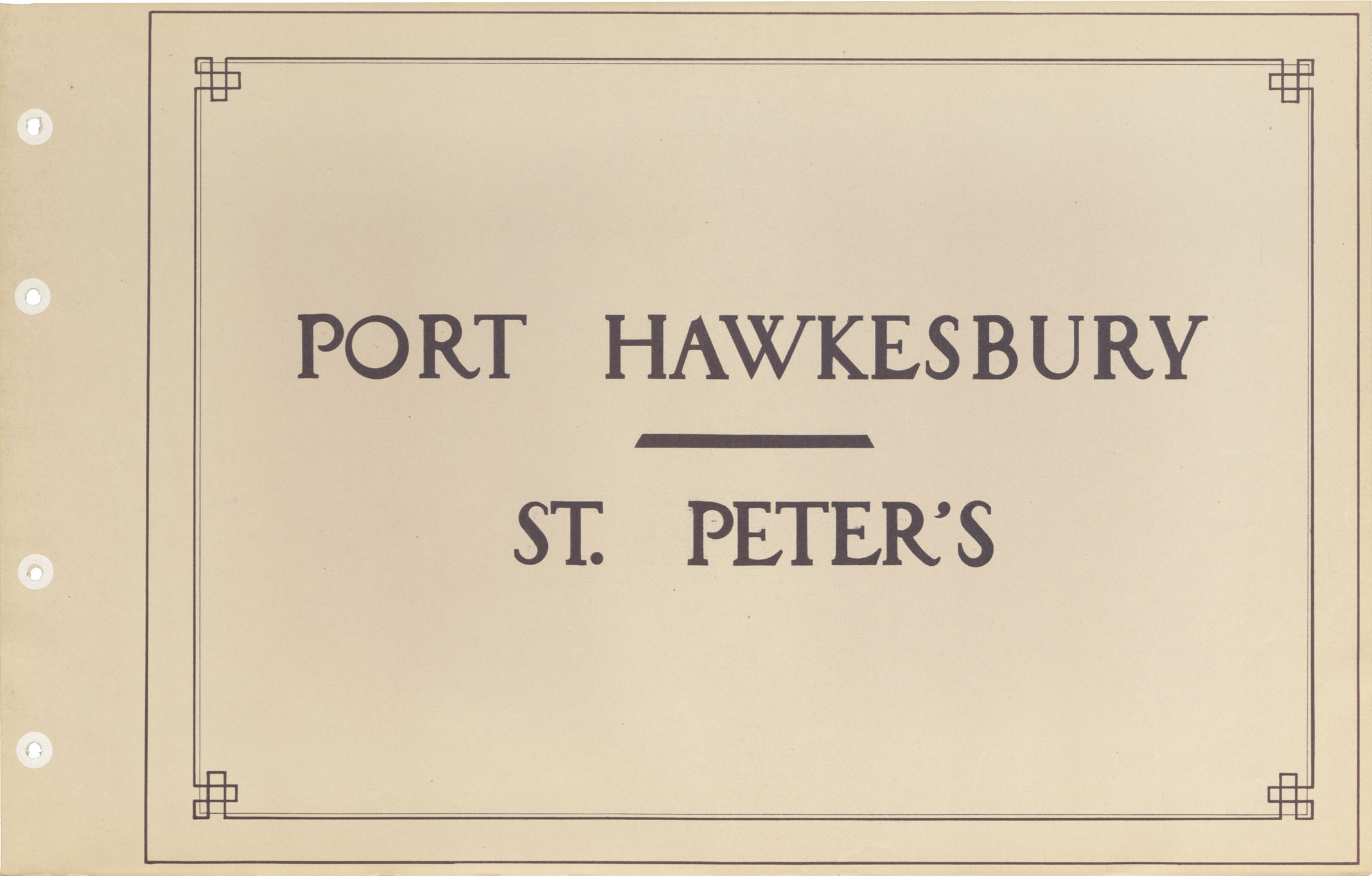 Port Hawkesbury - St. Peter's