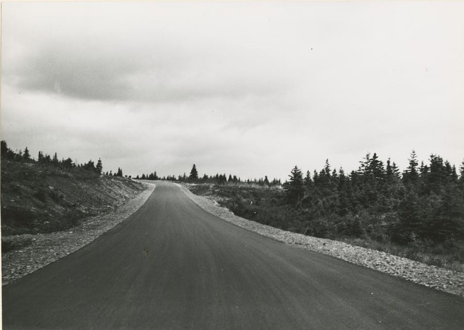 Port Hawkesbury - St. Peter's, End of Paving at Port Hawkesbury looking towards St, Peter's