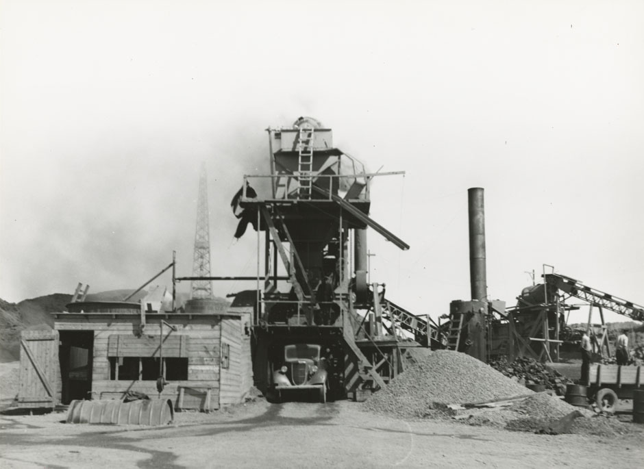 Heatherton - Monastery, Hot Mix Pavement Plant at Bayfield, Warren Paving Company