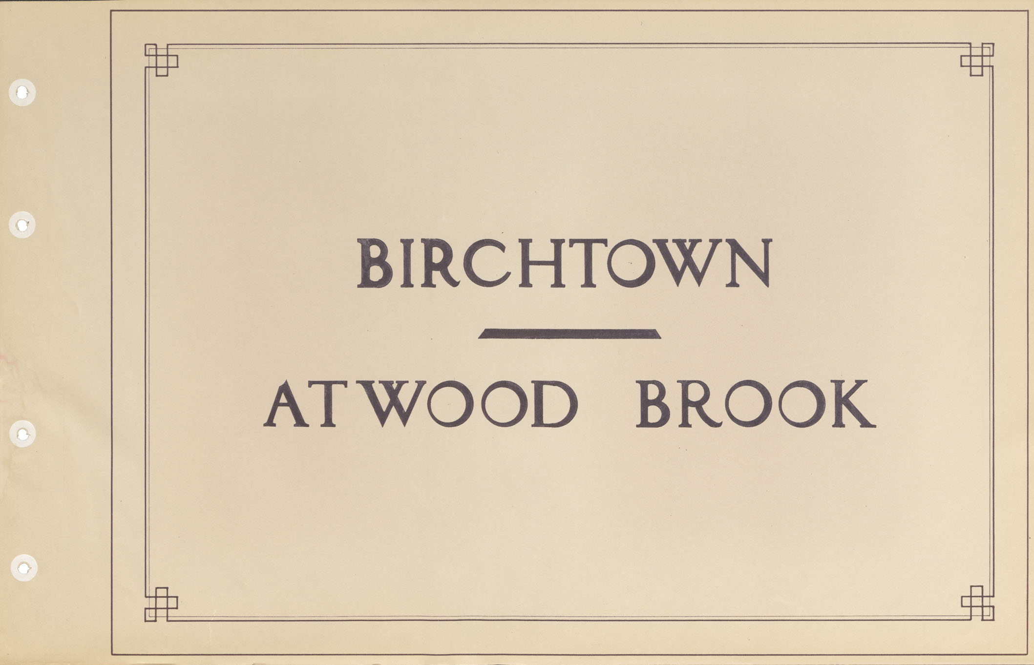 Highways : Birchtown - Atwood Brook