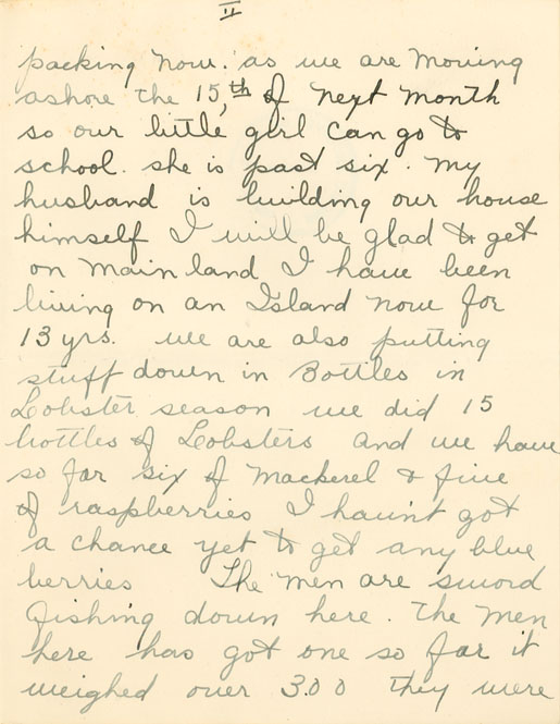 Letter from Mrs. Edna Martell to Clara Dennis