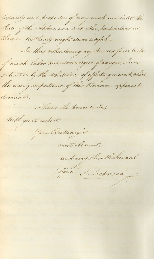 Letter enclosing report of Anthony Lockwood regarding inspection of Light Houses