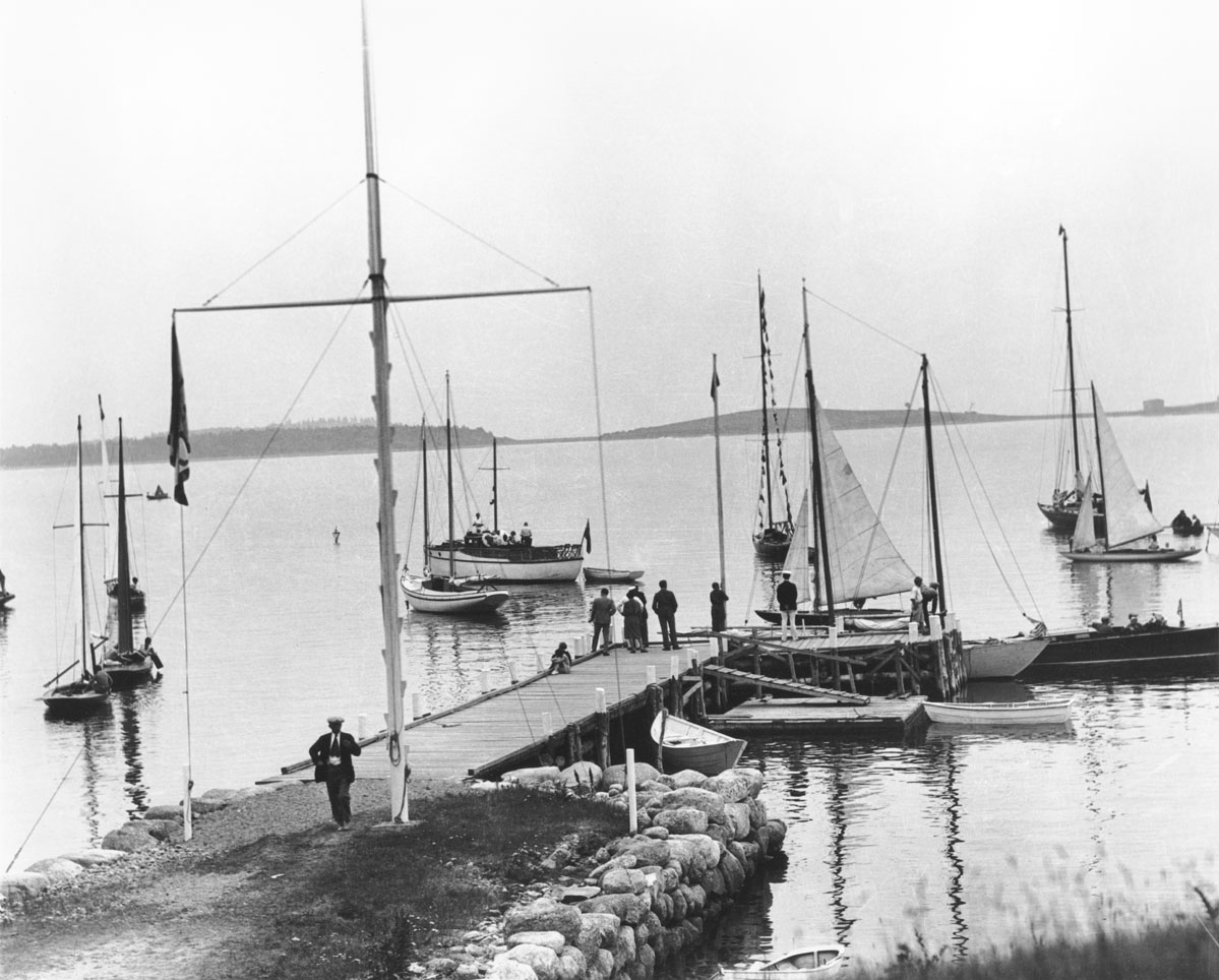 Chester wharf with yachts at dock