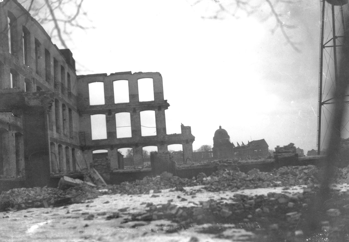 MacAskill : Ruins of Cotton Factory and Exhibition Buildings after Explosion in Halifax Harbour, 1917