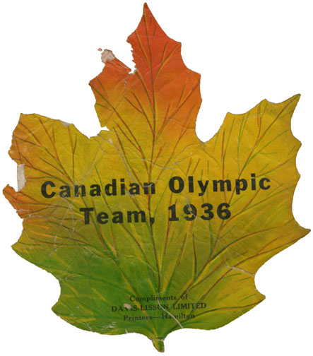''Canadian Olympic Team 1936''