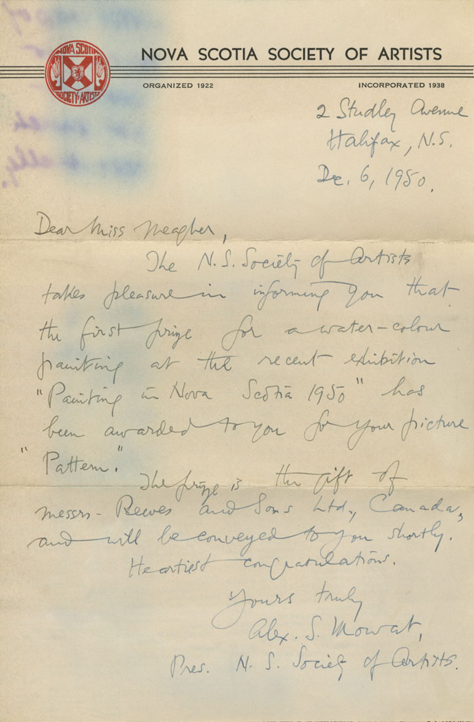 Letter from Alex S. Mowat to Aileen Meagher