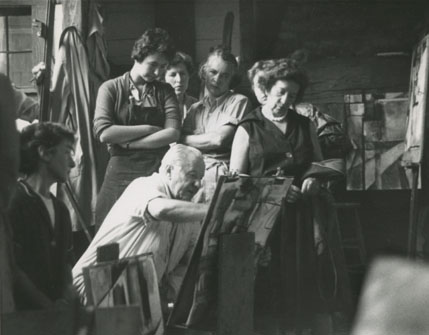 Hans Hoffman and art students