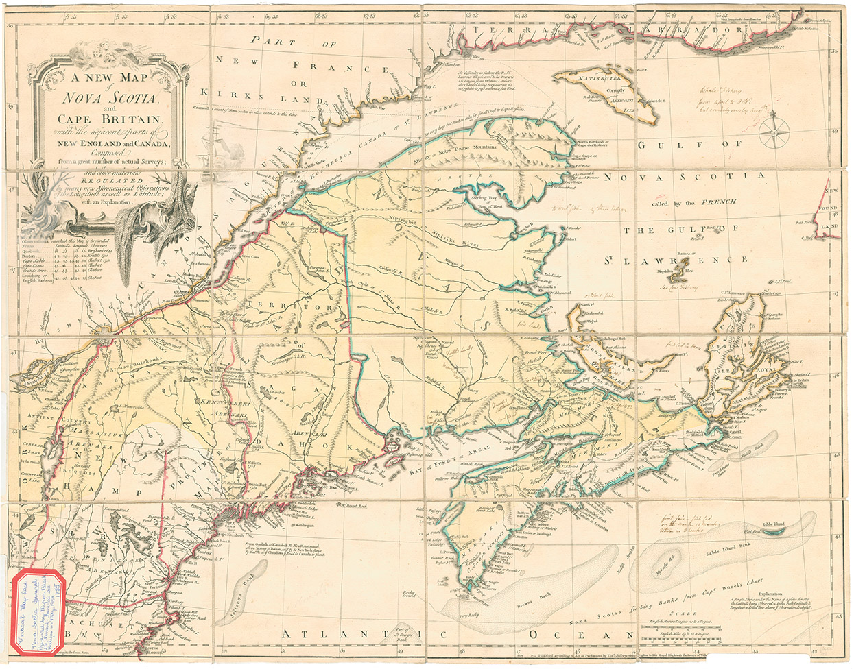 <i>A New Map of Nova Scotia and Cape Britain and the adjacent parts of New England & Canada, 1755</i>