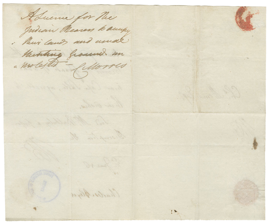Order from Surveyor General C. Morris to Charles Alexis.
